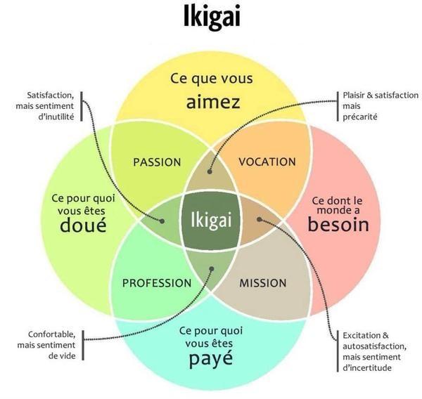 Schéma de l'ikigai selon Marc Winn